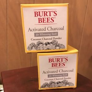 Burt's bees activated teeth whitening charcoal
